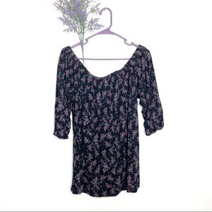 NEW Purple Anthropologie Deletta Caitha Floral Top